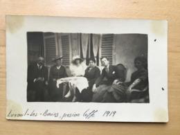 CARTE PHOTO LUXEUIL LES BAINS PENSION COFFE 1919 - Luxeuil Les Bains