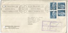 LAS PALMAS CANARIAS CC A USA TASADA AGUJEROS ARCHIVO UNDERPAID 1976 - 1931-Hoy: 2ª República - ... Juan Carlos I