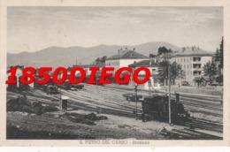 S. PIETRO DEL CARSO ( SLOVENIA ) STAZIONE FERROVIARIA F/PICCOLO VIAGGIATA BELLA ANIMAZIONE CON TRENI - Trieste