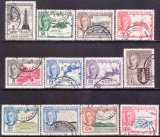 BRITISH VIRGIN ISLANDS 1952 SG 136-47 Compl.set Used CV £65 - British Virgin Islands