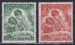 BERLIN 1951 - Michel Nr. 80-81 Postfrisch MNH** - Nuovi