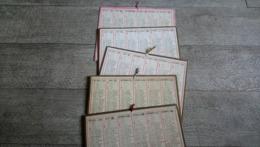 Lot 5 Calendrier Almanach Des Postes 1927 1932 1933 1934 1935 - Tamaño Grande : 1921-40