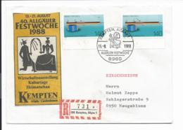 Bund 1378 MeF - 2x 140 Pf  Made In Germany - Einschreiben M. Sonderstempel Ab Kempten Verwendet - BRD