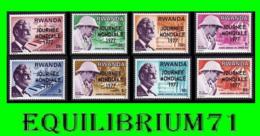 790/797** - Journée Mondiale Des Lepreux / Werelddag Van De Melaastsen - Dr Schweitzer - RWANDA - Albert Schweitzer