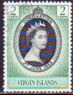 BRITISH VIRGIN ISLANDS 1953 SG 148 2c Used Coronation - British Virgin Islands