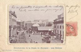 AN 766 /  C P A  -  ESPAGNE-    LAS PALMAS  -AIREDORES DE LA PLAZA DE MERCADO - La Palma