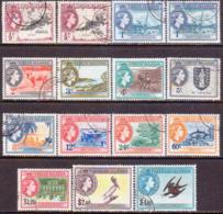 BRITISH VIRGIN ISLANDS 1956-62 SG 149-61 Compl.set Incl.colour Vars For ½c And 1c Used CV £80+ - British Virgin Islands