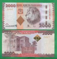 TANZANIA - 2000 SHILLINGS – 2015 - UNC - Tanzania