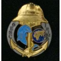 Broche De L'insigne Du 6° Escadron Du 1er RIMA (Régiment D'Infanterie De Marine) 1915 - Navy