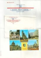 ALLEMAGNE Papier Entête Hôtel Stadt Leipzig Enveloppe CPM - Allemagne