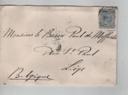 PR6963/ Spain Cover 1898 > Belgium Via Madrid Ambulant Paris à Erquelinnes C.d'arrivée Liège - 1889-1931 Royaume: Alphonse XIII