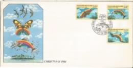 COCOS KEELING ISLAND FDC NAVIDAD 1984 CHRISTMAS PEZ FISH - Navidad