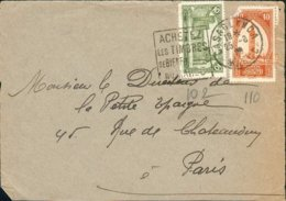 MAROC MOROCCO MAROKKO Devant De Lettre Ob Daguin Casablanca 1929 Pour Paris TB - Maroc (1891-1956)