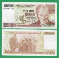 TURKEY - 100.000 TURK LIRASI - 1970 - UNC - Turchia