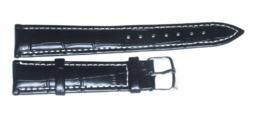 Bracelet Montre En Cuir Noir De 18 Mm - Jewels & Clocks
