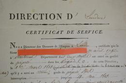 RARE Document EMPIRE DOUANES DIRECTION DE LOUVAIN?? 1813 NAPOLEON 1er BONAPARTE DOUANIERS GABELOUS. - Documents