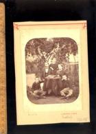 Photographie Cabinet  : Famille 2 Jeunes Garçons Young Boy 1876 / Atelier Photographe C BRETAGNE & DAVIS à LEVALLOIS - Anonymous Persons
