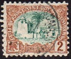 Cote Des Somalis Obl. N°  38 - Mosquée De Tadjourah, 2c Brun-rouge Et Vert - Côte Française Des Somalis (1894-1967)