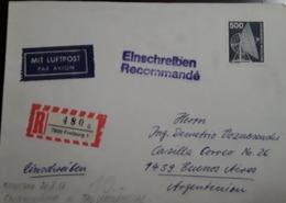 O) 1979 CIRCA- GERMANY,TRANSMITTER ANTENNA -COMMUNICATION, EINSCHEREIBEN RECOMMANDE - MIT LUFTPOST, TO ARGENTINA - Germany