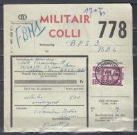 Fragment Met Stempel Schorisse Militair Colli - Chemins De Fer