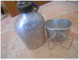 GOURDE + QUART - Psl 1990 - Aluminium A. BOURGEAT (vendue En L'état Voir Les Photos) - Equipement