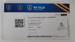 Handball Ticket Celje Pivovarna Lasko (Slovenia)  : Flensburg Germany 30.9.2018 Champions League EHF - Match Tickets