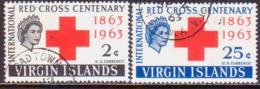 BRITISH VIRGIN ISLANDS 1963 SG 175-76 Compl.set Used Red Cross Centenary - British Virgin Islands