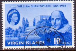 BRITISH VIRGIN ISLANDS 1964 SG 177 10c Used Shakespeare - British Virgin Islands