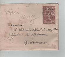 PR6974/ TP 73 Expo S/L. C.Maredret (Sosoye) 1897 > Château St Marc Vedrin Réexpédiée à Huy C.d'arrivées - 1894-1896 Exhibitions