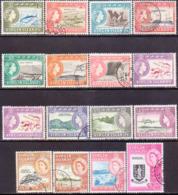 BRITISH VIRGIN ISLANDS 1964-68 SG 178-92 Compl.set Incl. Colour Var. For 10c Used CV £59+ - British Virgin Islands