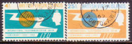 BRITISH VIRGIN ISLANDS 1965 SG 193-94 Compl.set Used ITU Centenary - British Virgin Islands