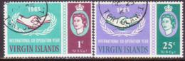 BRITISH VIRGIN ISLANDS 1965 SG 195-96 Compl.set Used Int. Co-operation Year - British Virgin Islands