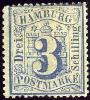 Hamburg. Michel #15a. Unused. OG. * - Hamburg