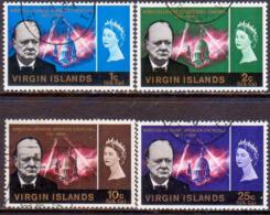 BRITISH VIRGIN ISLANDS 1966 SG 197-200 Compl.set Used Churchill - British Virgin Islands