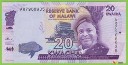 Voyo MALAWI 20 Kwacha 2014 P63a B158a AR UNC Education - Malawi