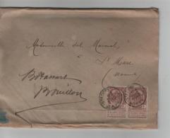 PR6975/ TP 55(2) S/Manchon C.Namur (Station) 1898 > St.Marc C.d'arrivée Vedrin - 1893-1907 Coat Of Arms