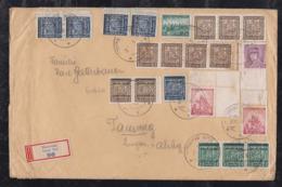 Czechia Bohemia And Moravia 1939 Registered Cover MORASKA NOVA VES To TAMSEG Austria Mixed Franking Overprint Stamps - Czechoslovakia