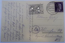 1944 DR Postkarte Freistempel Jagdflieger. Das Gebot Der Stunde - Briefe U. Dokumente
