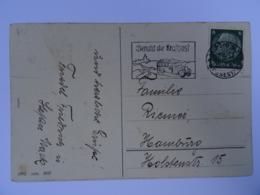 "1937 DR Postkarte Leipzig Freistempel ""Benutzt Die Kraftpost"" - Germany"