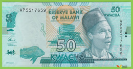 Voyo MALAWI 50 Kwacha 2014 P64a B157a AP UNC UNC Elephant - Malawi