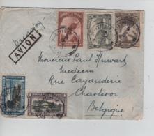 PR6976/ Belgisch Congo Belge Lettre Avion 1934 > Belgique Charleroi Via Kampala Uganda - Congo Belge