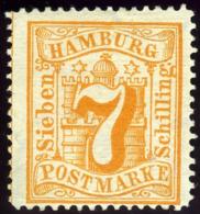 Hamburg. Michel #17. Unused. (*) - Hamburg