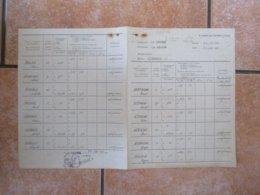 28 JUIN 1941 GEMEINDE LA GROISE NAMEN U. VORNAMEN DES VIEHHALTERS ANZAL DER KÜHE ABLIEFERUNGSSOLL JE WOCHE ABLIFERUNGS - Documents Historiques