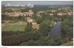85 MAREUIL SUR LAY.... Vue Generale Aerienne Le Terrain De Camping Et Les Rives Du Lay Au Premier Plan (cpsm) - Mareuil Sur Lay Dissais