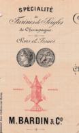 Facture 1900 / BARDIN / Moulin à Cylindres / Farine Seigle De Champagne / 51 Châlons Sur Marne - France