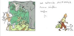 FRANCE - CARTE TINTIN - HERGÉ / MOULINSART 1999 - Livres, BD, Revues