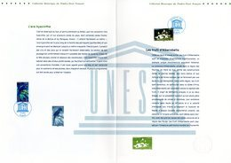 """"""" UNESCO 2014 : BRESIL / ITALIE """" Sur Doc. Philatélique Officiel 1°Jour De 4 Pages. N°YT SERV 161 162. Parf état. DPO - Documents De La Poste"""