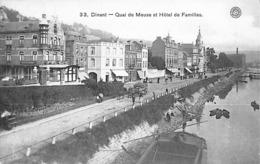 Dinant - Quai De La Meuse Et Hôtel Des Familles (belle Animation, Attelage, Hermans) - Dinant