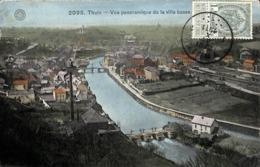 Thuin - Vue Panoramique De La Ville Basse (colorisée, Hermans 1911) - Thuin