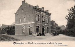 Champion  Hotel Du Pensionnat  Et Arret Du Tram Circulé En 19???? - Namur
